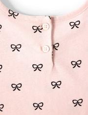 Girls Bow Peplum Dress - Puuurfect In Paris