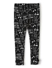 Girls Eiffel Tower Leggings - Puuurfect In Paris