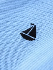 Boys Embroidered Sail Boat Polo - Country Club