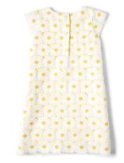 Girls Daisy Lace Shift Dress- Garden Party