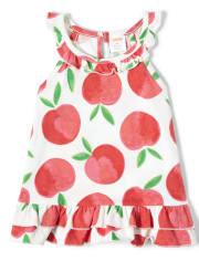 Girls Ruffle Top - Pretty Peach