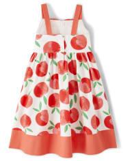 Girls Bow Dress - Pretty Peach