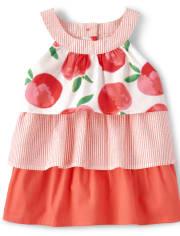 Girls Tiered Top - Pretty Peach