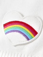 Girls Embroidered Rainbow Cardigan - Sunshine Time