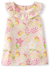 Girls Easter Ruffle Top - Garden Party