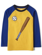 Boys Embroidered Baseball Top - Lil Champ