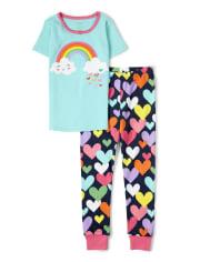 Girls Sunshine Time Cotton 2-Piece Pajamas - Gymmies