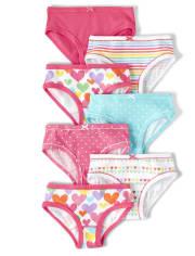 Girls Rainbow Briefs 7-Pack