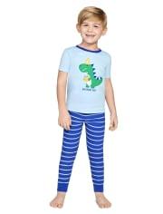Boys Birthday Cotton 2-Piece Pajamas - Gymmies