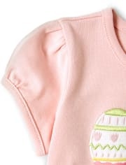 Girls Embroidered Easter Top - Garden Party