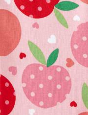 Girls Pretty Peach Cotton 2-Piece Pajamas - Gymmies