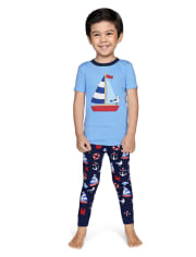 Boys All Aboard Cotton 2-Piece Pajamas - Gymmies