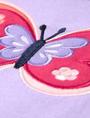 Girls Butterfly Cotton 2-Piece Pajamas - Gymmies