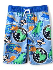 Boys Swim Shorts - Hello Dino