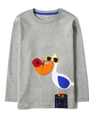 Boys Embroidered Pelican Top - All Aboard