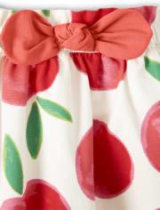 Girls Tiered Skort - Pretty Peach