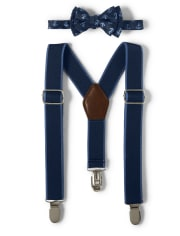 Boys Bow Tie And Suspenders Set - Country Club