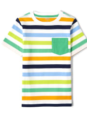 Boys Striped Pocket Top