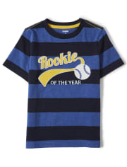 Boys Embroidered Rookie Top - Lil Champ
