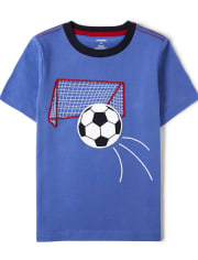Boys Embroidered Soccer Top - Ready, Set, Goal