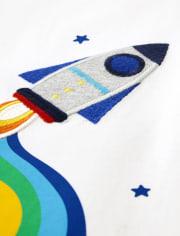 Unisex Rainbow Rocket Ship Top - Future Astronaut