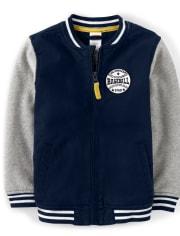 Boys Baseball Varsity Jacket - Lil Champ