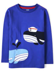 Boys Embroidered Whale Top - All Aboard