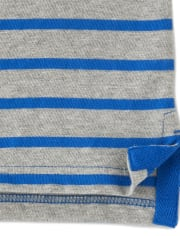 Boys Striped Polo - Country Club