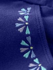 Girls Floral Medallion Bow Shorts - Island Getaway