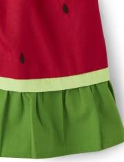 Girls Watermelon Ruffle Skort - Sweet Watermelon