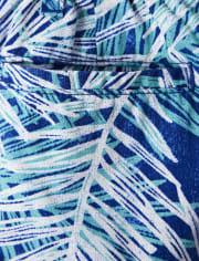 Boys Palm Leaf Chino Shorts - Island Getaway