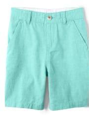 Boys Striped Linen Chino Shorts - Island Getaway