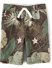 Boys Leaf Pull On Shorts - Safari Camp