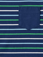 Boys Striped Pocket Top And Shorts Set - Critter Camp