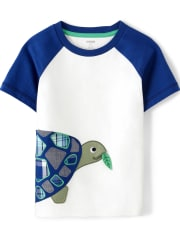 Boys Turtle Patch Top - Critter Camp