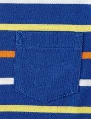 Boys Striped Pocket Top - Mr. Fix It