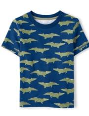 Boys Alligator Print Top - Critter Camp