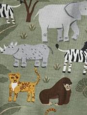 Boys Safari Cotton 2-Piece Pajamas - Gymmies