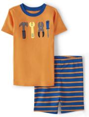 Boys Tools Cotton 2-Piece Pajamas - Gymmies