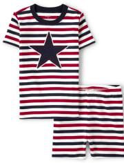 Gymboree Unisex Striped Star Cotton 2-Piece Pajamas