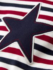 Unisex Striped Star Cotton 2-Piece Pajamas - Gymmies