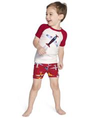Boys Airplane Cotton 2-Piece Pajamas - Gymmies