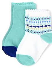 Girls Midi Socks 2-Pack - Island Getaway