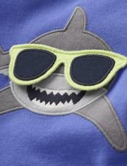 Boys Peek-A-Boo Shark Top - Island Getaway