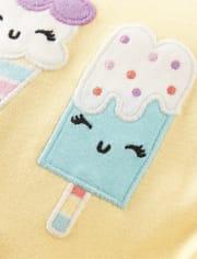 Girls Ice Cream Cotton 2-Piece Pajamas - Gymmies