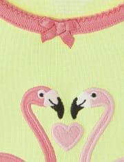 Girls Flamingo Cotton 2-Piece Pajamas - Gymmies
