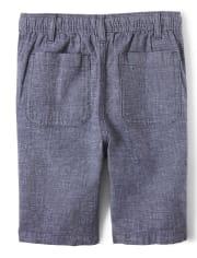 Boys Linen Pull On Shorts - Island Getaway