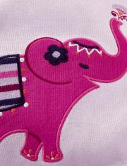 Girls Elephant Cotton 2-Piece Pajamas - Gymmies