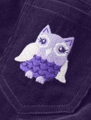 Girls Owl Corduroy Skirtall - Whooo's Cute