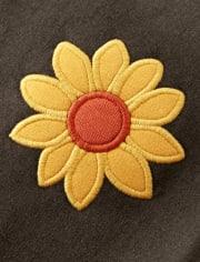 Girls Embroidered Sunflower Jogger Pants - Harvest